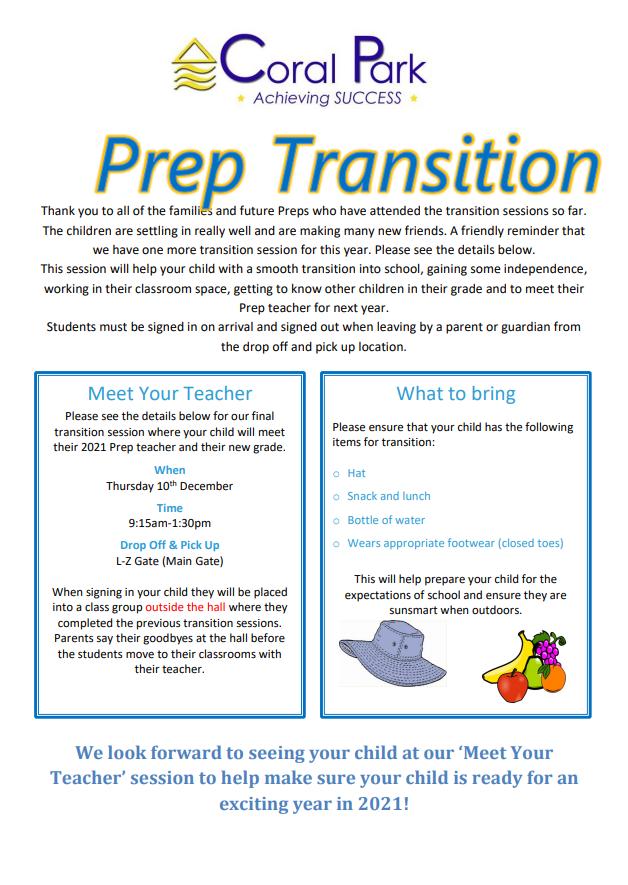 Prep transition flier 10-12-20